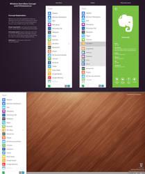 Windows Start Menu Concept by andrei19190