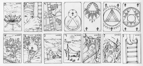 Wood - Suit for the Mercurial Travel Tarot by epstein