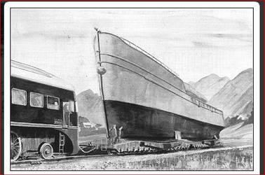 Breitspurbahn ship carrier. by FutureWGworker