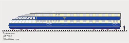 Breitspurbahn express tail wagon. by FutureWGworker