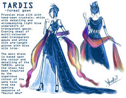 TARDIS: Formal Gown by Sno-Oki