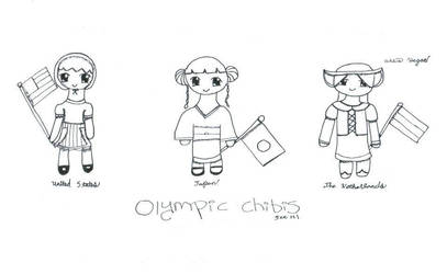 Olympic Inspired Chibis (SET 1) by ToshiroFangirl4Ever