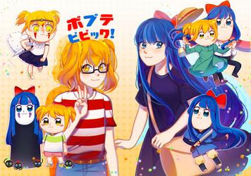 Pop Team Epic x Studio Ghibli by enzouke