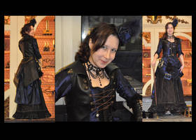 steampunk museum fashion show by numberjumble