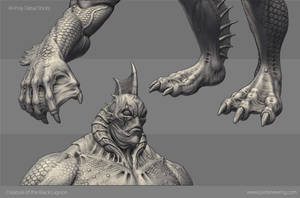 Creature from the Black Lagoon - Sculpt Details by Dvolution
