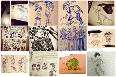 Insta Sketchdump by reb-chan