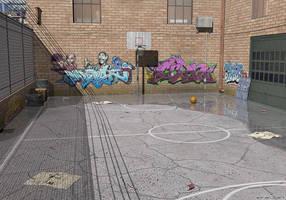 NY Street Basketball by adrian3Dart