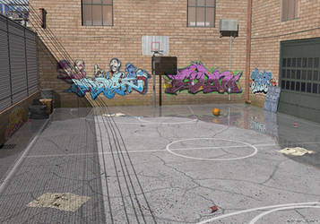 NY Street Basketball by adrian3Dart