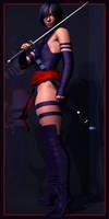 Cosplay: Diana as Psylocke by Armoun