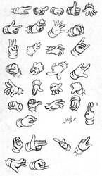Hand Poses by KaiThePhaux