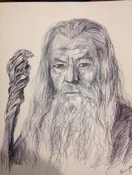 Gandalf (pen) by pichardo1334
