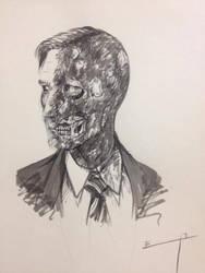 Harvey Dent (tinta china sobre papel) by pichardo1334