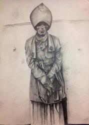 momia, lapiz sobre papel by pichardo1334