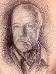Mike of breaking bad (pen on paper) by pichardo1334