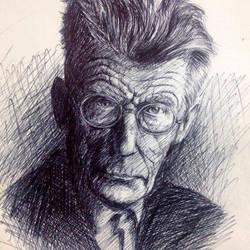 Samuel Beckett (pen on paper) by pichardo1334