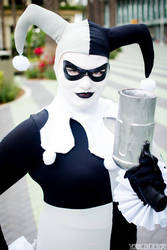 Black and White Harley Quinn 5 by Lady-Ha-ha