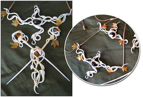 Elven Ivory Jewelry by Indirie