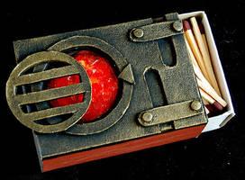 Furnace - Steampunk Matchbox by Indirie