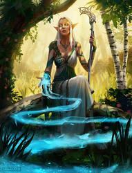 Elf Priestess by pindurski