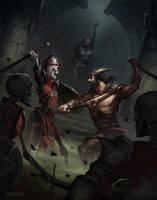 A little dungeon scuffle by pindurski