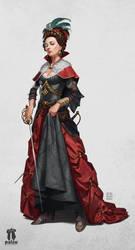 Pathfiner RPG Character: Princess Eutropia by pindurski