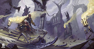 Pathfinder - War for the Crown - cover art by pindurski