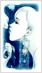blue hair by JuleeMClark