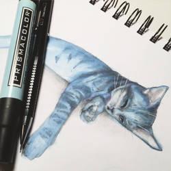 blue tabby by JuleeMClark