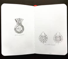 jewelry illustrations by JuleeMClark