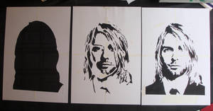 Kurt Cobain - Cut Stencil by RAMART79