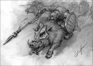 Orc Boar Boyz by skor2d