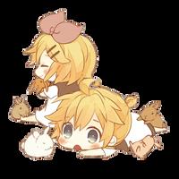 [Render #62] Kagamine Twins by sandrareina