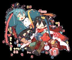 [Render #70] Ene with Shintarou by sandrareina