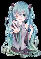 [Render #130] Hatsune Miku by sandrareina