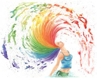 Rainbow Splash by Stephanie-Chivas