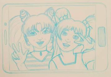 Chibiusa and McKenzie selfie by Stephanie-Chivas