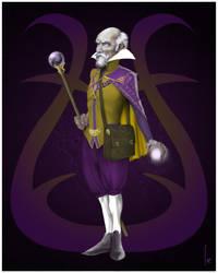 Baroque Wizard Purple + Gold [Poster] by damonteufel