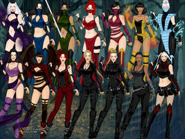 Mortal Kombat Females by SydneyRoman