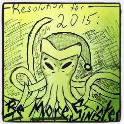 Sinister Christmas Octopus New Year by TheEpicBeyond