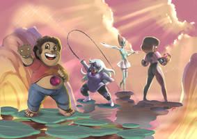 Steven Universe: Kaizokucon Print by peannlui