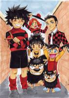 The Beano: Manga Style by peannlui