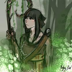 Azelia in forest by Mocking-Bird-Star