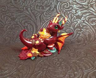 Autumn Dragon by KaijuClayCreations