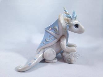 Winter Dragon by KaijuClayCreations