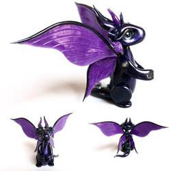 Twilight Clay Dragon by KaijuClayCreations