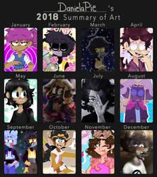 DanielaPie's Art Summary 2018. by DanielaKazuma