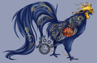 Brocade Rooster by EvlonArts