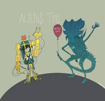 Aliens Time by MekareMadness