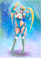 Rainbow Mika SF5 fanart by BartonDH