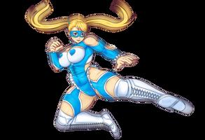 Rainbow Mika Street Fighter Alpha 3 by BartonDH